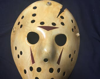 8 -Jason Voorhees Friday the 13th Custom Mask from Movie # 8 Part Jason Takes Manhattan