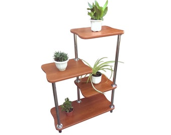 "Plant Stand ""MC3"" . Flower stand Indoor plant stands Plant holder Plant table Stand for flowers Flower shelf Shelf Corner shelf Planter Rack"
