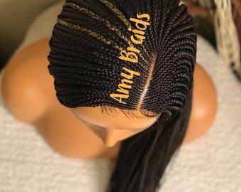 Braided cornrow wig