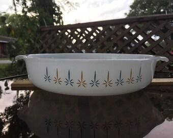"""Vintage Fire King Candle Glow 9"""" Round Cake Pan - Anchor Hocking Bakeware"""