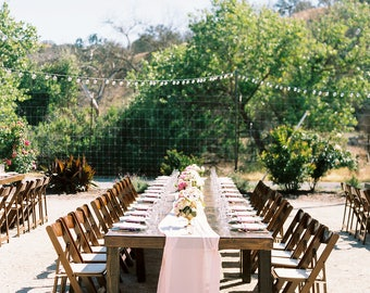 silk chiffon table runner   wedding table runner   silk table runner   silk runner   silk runners   silk runner   blush wedding decor   pink