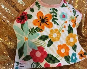 Bright Floral Multi Color Wash&Wear Bibs by Bobbie