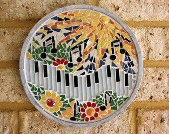 Summer. Four Seasons.Handmade Mosaic Wall Stand.Decorative Wall Decor.Mosaic Wall Art