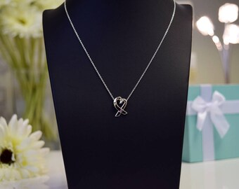 Tiffany & Co Sterling Silver Loving Heart Pendant (Paloma Picasso)