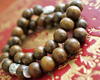 Wood men bracelet - Brown men bracelet -  Buddha bracelet