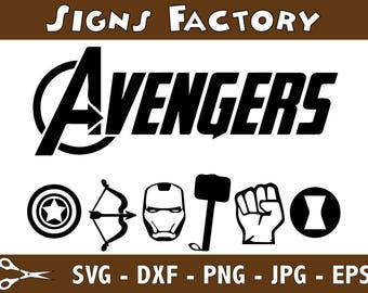 Avengers Svg, Captain America Svg, Heroes Svg, Avengers Svg, use with Cricut & Silhouette
