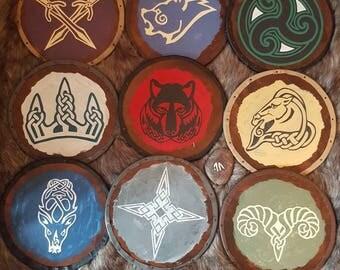 "11 inch ""Skyrim"" shields"