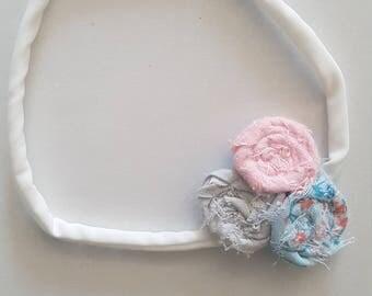 Newborn rosette elastic  headband
