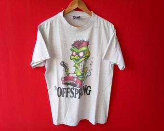vintage the offspring band grunge rock music concert large mens t shirt