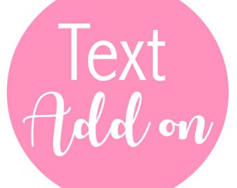 Text Add on