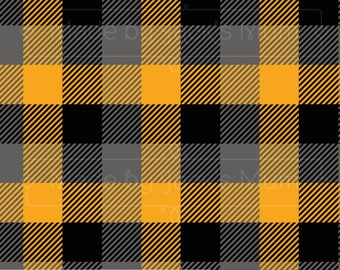 Yellow/Grey/Black Plaid French Terry (280gsm, 94/6 Cotton/Elastane) *UK*