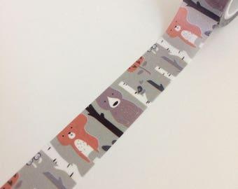 Woodland Animal Print Washi Tape
