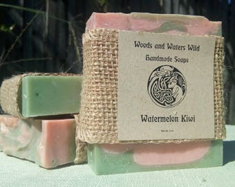Watermelon Kiwi | Natural Soap | Cold Process Soap | Vegan Soap