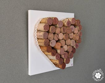Heart cork backed with wood model 1