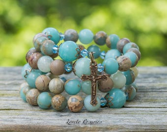 Our Lady of Guadalupe Rosary Wrap Bracelet