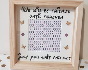 Best Friend Frame BFF Gift Home Decor Personalized Birthday gifts Friends Customized Gifts for Best Friend Wood Gifts Wall decor Mates