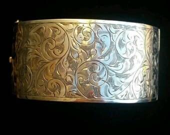 Sold More Soon Art deco silver bangle, vintage silver bangle, Birmingham 1938 bangle, silver jewelry