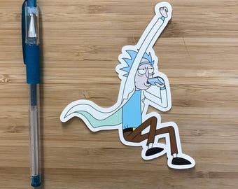 Drunk Rick Vinyl Sticker, Rick and Morty Gift, Pickle Rick, Cartoon network, Vinyl Decals, Notebook Stickers, South Park, Funny Stickers