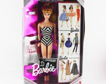 Original 1959 Barbie Special Edition Reproduction, 35th Anniversary Barbie, Made by Mattel 1993, Sealed Box, Swimsuit Collectible