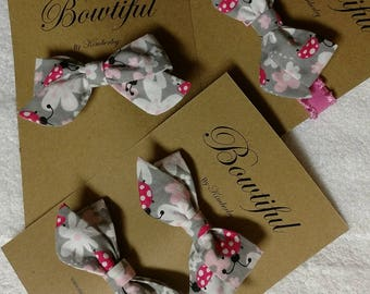 Ladybug Print Hairbows and Hairbands - Baby Gift - Baby Shower Gift