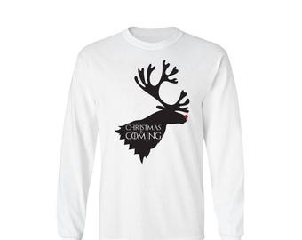 Game of Thrones Inspired Christmas is Coming House Stark Long Sleeve