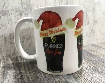 Personalised / Personalized Christmas Guiness Mug
