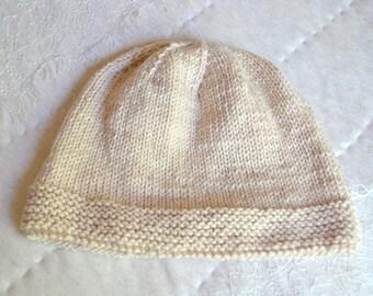 Women's Adult Pink Superfine Merino Beanie Hat