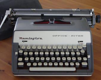 Mechanical typewriter REMINGTON-OFFICE-RITER vintage 1960's Typewriter