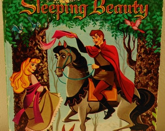 Walt Disney's Sleeping Beauty Whitman Tell A Tell Books 1959 Children's  (bb1)