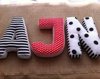 A cuddly letter, 3 letters cushions, pillows, cushions, personalised cushions