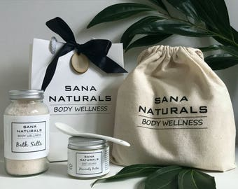 Natural Skin Care Gift Set- 2 Products + Accessories- Natural Skincare Gift Pack- Gift For Her- Present For Mother- Vegan Skincare- Gift Kit