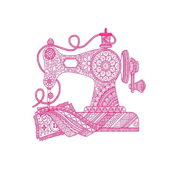 Digi Tizers Sewing Machine Zentangle Svg Studio V3 Jpg