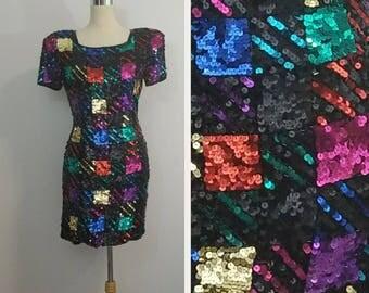 Vintage Sequin Dress by A.J. Bari