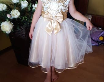 Satin & Tulle Flower Girl Dress Children's Girl Costumes For kids Satin Sequences Princess Party Wedding Dresses Girls Clothes Teen Girl Eve