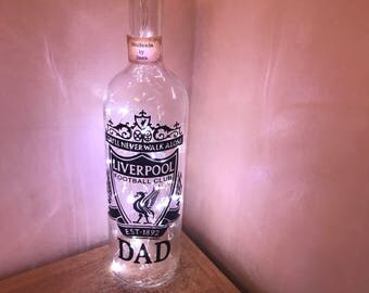 Dad light up football club bottle