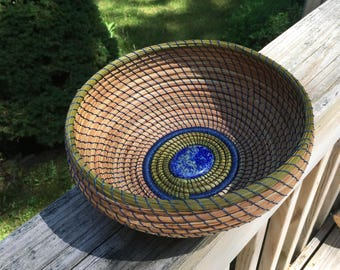 Pine needle art basket