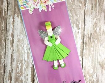 TinkerBell Ribbon Sculpture, TinkerBell Hair Clip, Princess Inspired Hair Clip, Girls Hair Accessories