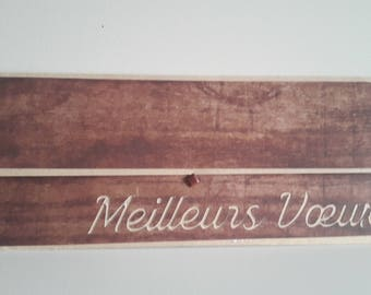 Gift box style wood