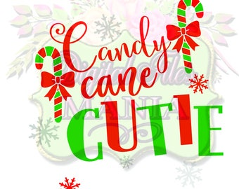 Candy Cane Cutie svg Candy Cane SVG,  Svg cut files svg, Christmas Silhouette Cricut  Christmas Svg, Christmas Svg, Png,vector, DXF