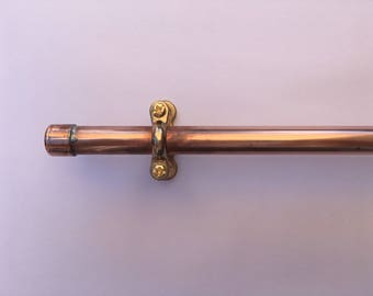 Copper rail, 15mm copper pipe, towel rail, industrial kitchen or bathroom, multi-purpose