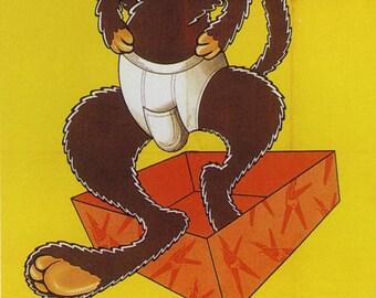 Kangourou Vintage French Poster Print