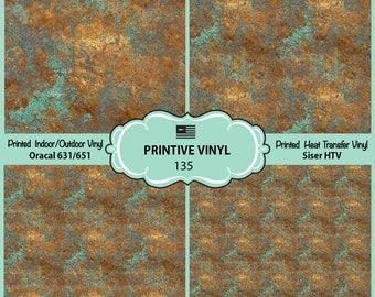 Vintage Bronze Printed Pattern Vinyl/Siser HTV/ Oracal/ Indoor Vinyl/ Outdoor Vinyl/ Heat Transfer Vinyl- 135