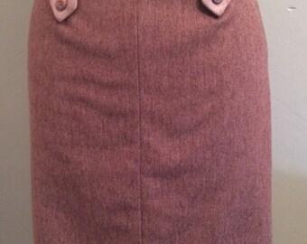 Dusky Pink Vintage Skirt