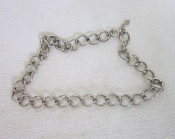 Vintage Designer Sarah Coventry Large Chain Link Necklace