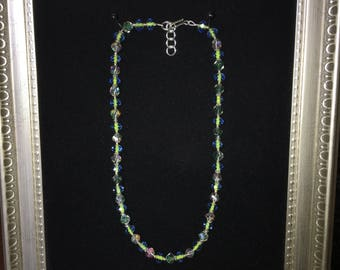 Adjustable crystal bead necklace