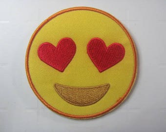 Heart Eyes Emoji   –  I Love You – I Love This - Iron on Patch