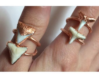 Shark Tooth Ring | Electroformed Copper Jewelry| Handmade