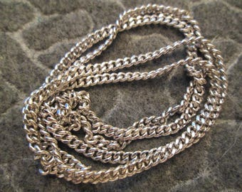 """Heavy Solid Sterling Silver 24"""" chain>> Vintage 1970's>> New Old Stock>> Very Durable!"""