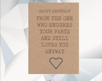 Funny Birthday Card Boyfriend Etsy