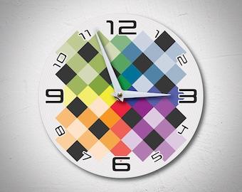 Century Grid Wall Clock made of wood - MadMadeWorld